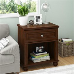 Altra Hanover Creek 1 Drawer Wood Nightstand in Divine Cherry