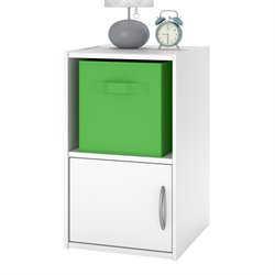 Altra Lucerne 2 Shelf Wood Nightstand in White Stipple