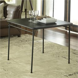 Cosco Square Vinyl Folding Table in Black