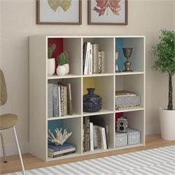 Ameriwood Altra Wink 9 Cube Wood Storage Bookcase in White