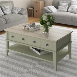 Ameriwood Coffee Table in Beach Sand and Laguna Oak
