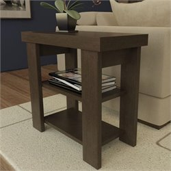 Ameriwood Hollow Core End Table in Black Forest
