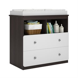 Ameriwood Cosco Willow Lake Changing Table in Coffee House Plank