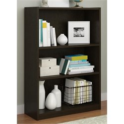 Altra Core 3-Shelf Bookcase in Black Forest