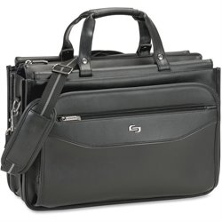 US Luggage Triple Gusset Laptop Briefcase