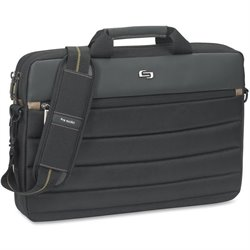 US Luggage Pro Dbl Gusset Laptop Slim Briefcase