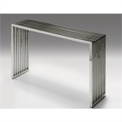 Mobital Axel Console Table in Polished Stainless Steel