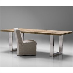 Mobital Provence Dining Table in Polished Steel