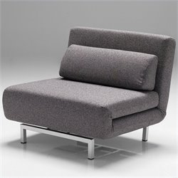 Mobital Iso Chair-Bed in Charcoal Tweed