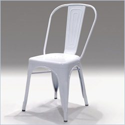 Mobital Metallica Dining Chair in White