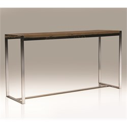 Mobital Motif Console Table in Polished Steel