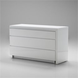 Mobital Savvy 3 Drawer Extension Dresser in White