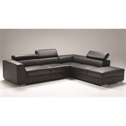 Mobital Icon Sectional with Right Side Facing Chaise in Black