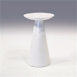 Mobital Tower Low End Table in High Gloss White