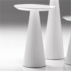 Mobital Tower Medium End Table in High Gloss White