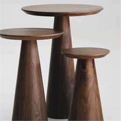 Mobital Tower Tall End Table in Walnut