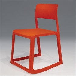 Mobital Etra Stackable Dining Chair in Orange