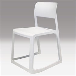 Mobital Etra Stackable Dining Chair in White