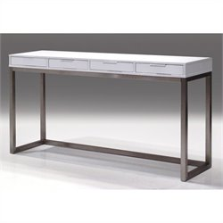 Mobital Palco Sofa Table in High Gloss White