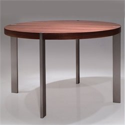 Mobital Voom Dining Table Round in Natural Walnut
