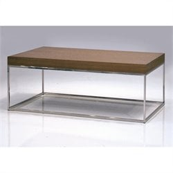 Mobital Kubo Rectangular Coffee Table in Natural Walnut