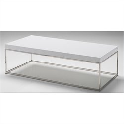 Mobital Kubo Rectangular Coffee Table in High Gloss White