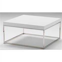 Mobital Kubo Square Coffee Table in High Gloss White