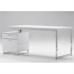 Mobital Span Desk in White - 63 Inch