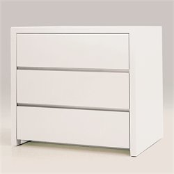 Mobital Blanche 3 Drawer Chest in High Gloss White