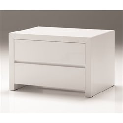 Mobital Blanche 2 Drawer Nightstand in High Gloss White