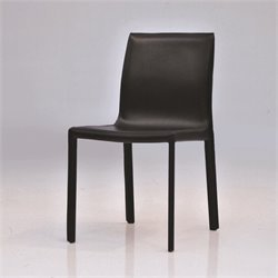 Mobital Fleur Leather Dining Chair in Black