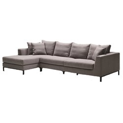 Mobital Hunter Fabric Sectional in Gray