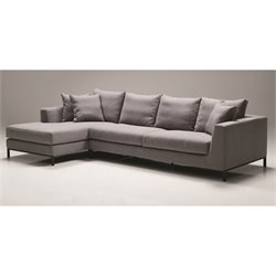 Mobital Hunter Fabric Left Sectional in Gray