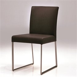 Mobital Tate Faux Leather Dining Chair in Black