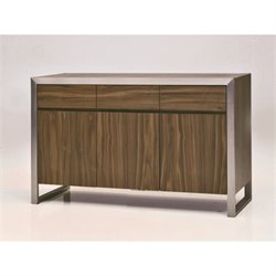 Mobital Moda 3 Door Buffet Table in Natural Walnut