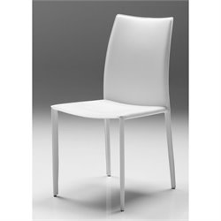 Mobital Zak Leather Dining Chair in Pure White