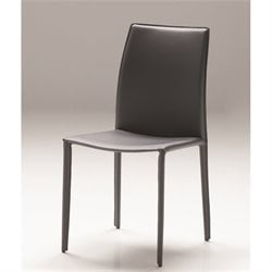 Mobital Zak Leather Dining Chair in Gray