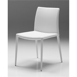Mobital Zeno Faux Leather Dining Chair in Pure White