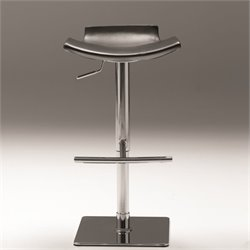 Mobital Senza Adjustable Bar Stool in Black and Chorme