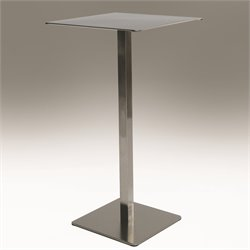 Mobital Statum Square Pub Table in Stainless Steel