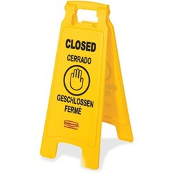 Rubbermaid Comm. Caution Wet Floor Floor Sign