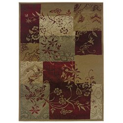 Oriental Weavers Genesis 2' x 3' Machine Woven Rug in Red