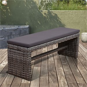 International Home Atlantic Cebu Patio Bench in Distressed Gray