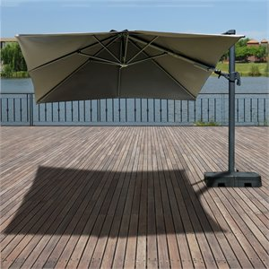 International Home Atlantic Liberty 10 Ft Square Patio Umbrella with Base