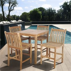 International Home Miami Corp Eden 5 pc Bar Set in Teak