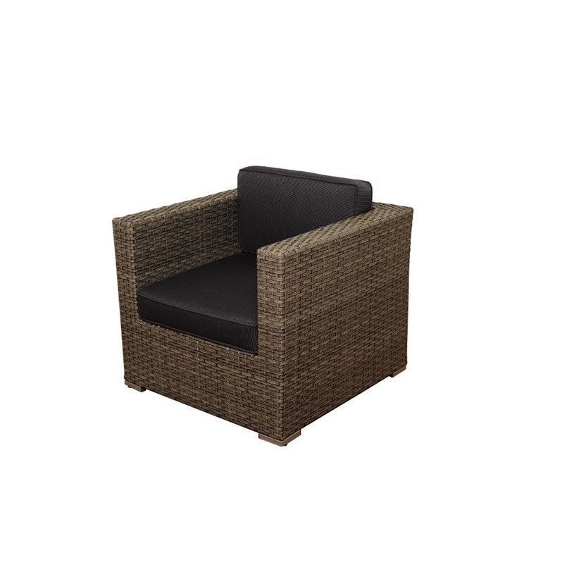 Southampton 9 pc Wicker Seating Set with Grey Cushions in Grey