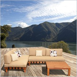 International Home Miami Amazonia 3 Piece Patio Seating in Brown