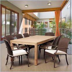 International Home Amazonia Teak 9 Piece Patio Dining Set