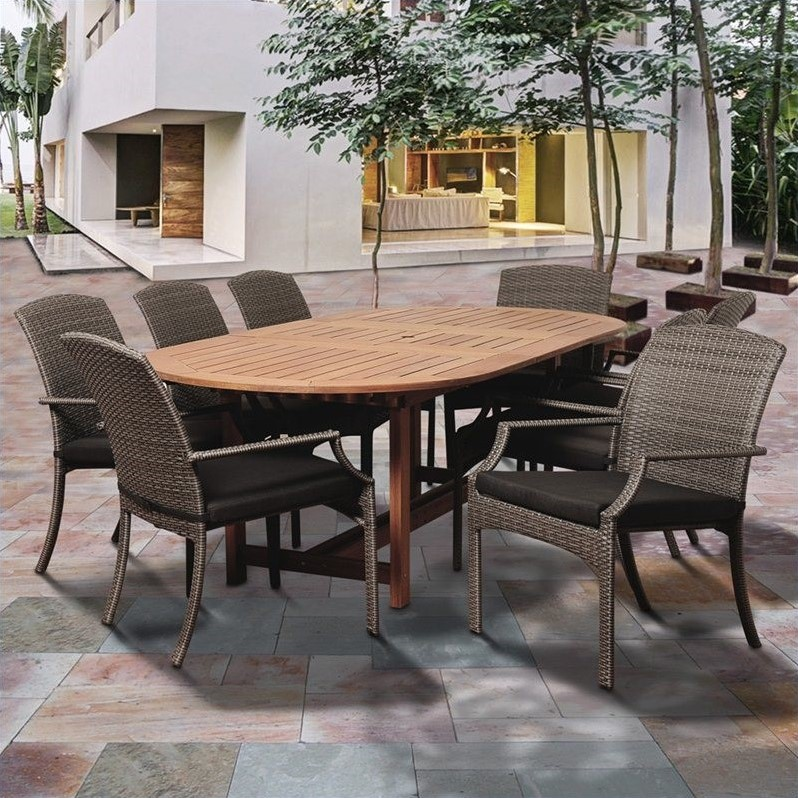 International Home Amazonia 9 Piece Extendable Oval Patio