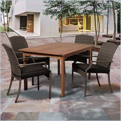 International Home Amazonia 5 Piece Patio Dining Set